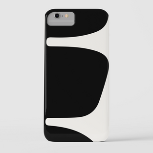 Black and white iPhone cover