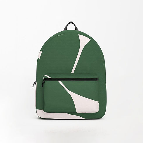 Petra Kaksonen simple, modern, green backpack
