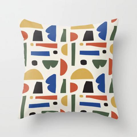 Petra Kaksonen Colourful Cutout Pillow