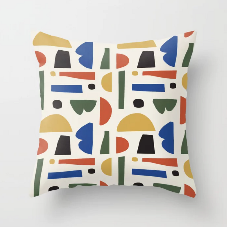 Petra Kaksonen Colourful Cutout Pillow