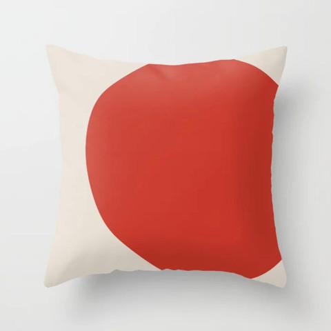 Petra Kaksonen Big Red Dot Pillow