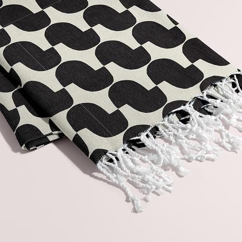 Petra Kaksonen Black and white Cutout Towel