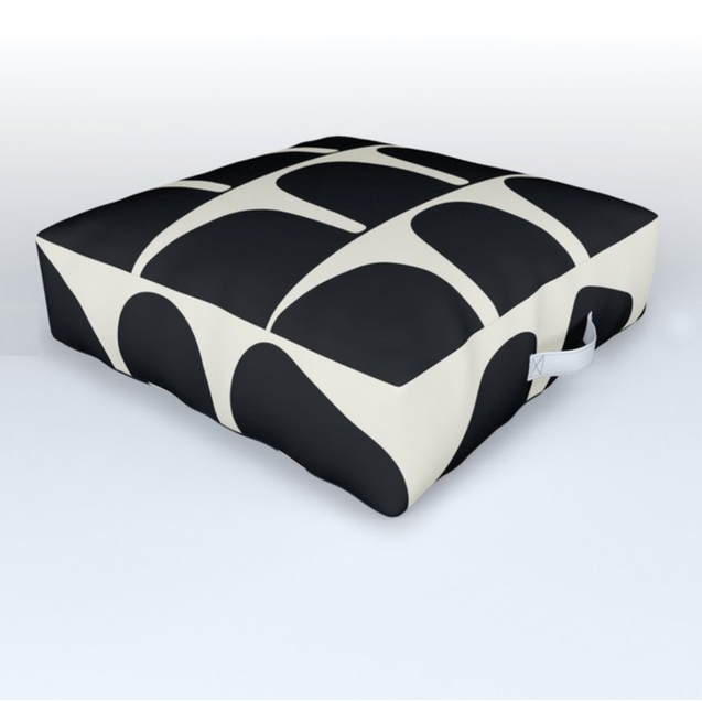 Tilly Outdoor Pillow in BW