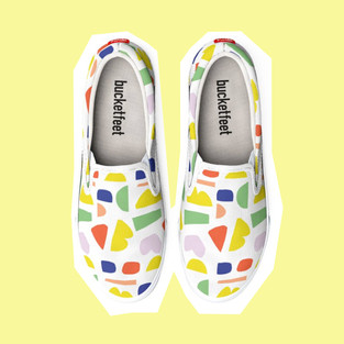 Colourful Happy Canvas Shoes