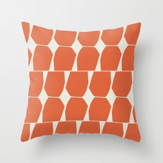 Tapio Throw Pillow Orange
