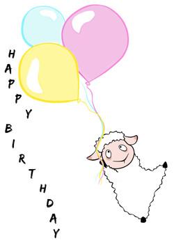 Birthday Sheep