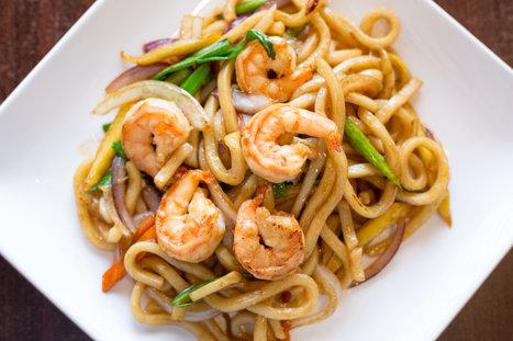 Shrimp noodles