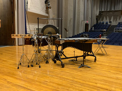 Percussion setup on the Osterfield