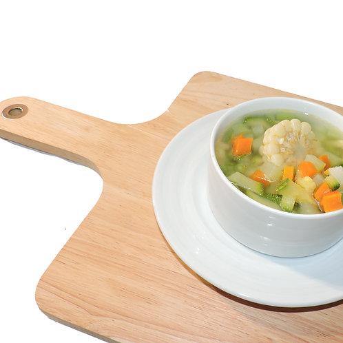 Consome o sopa del día