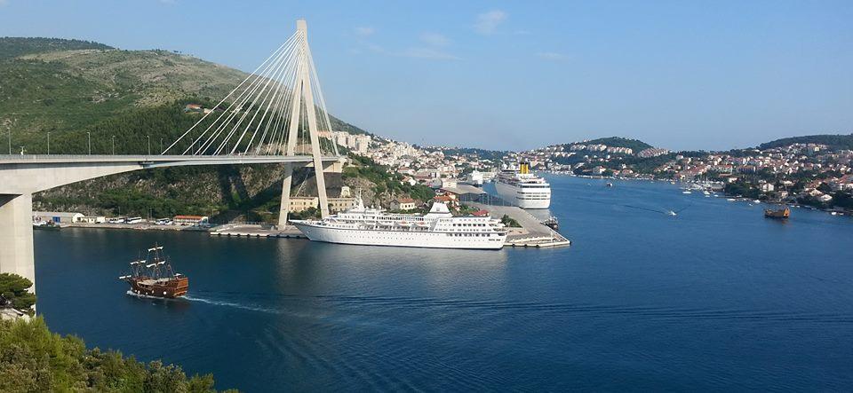 Pogled sa mosta Dr. Franjo Tuđman