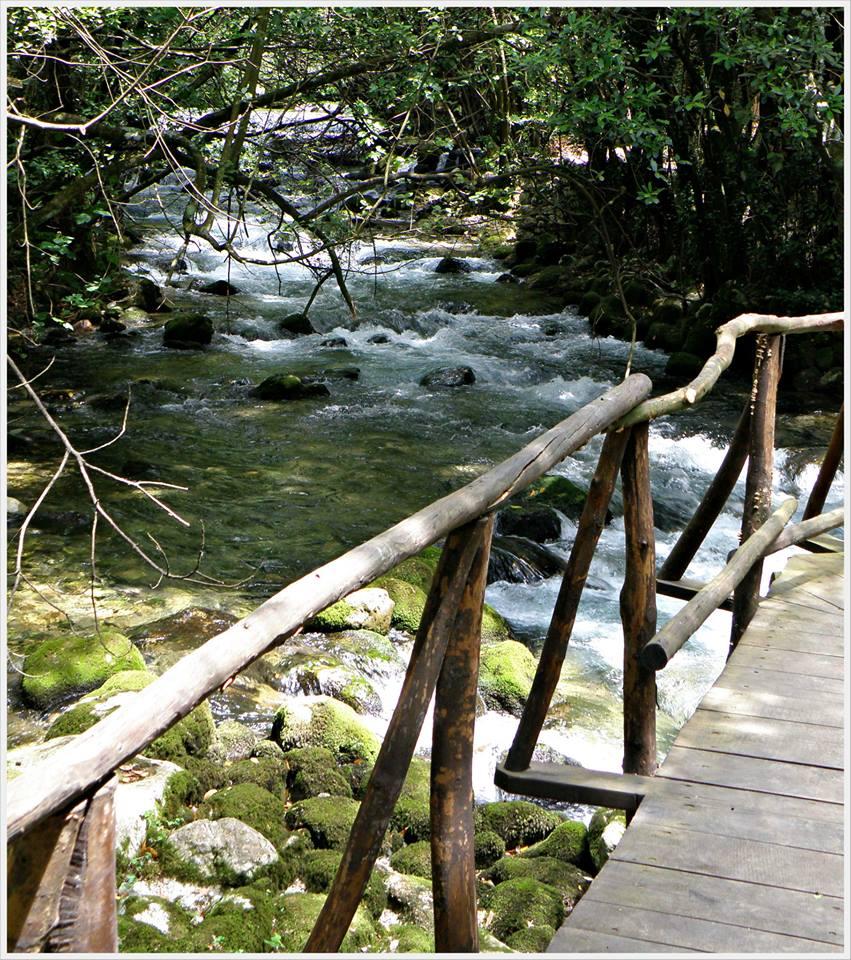 Fluss Ljuta Spazierweg