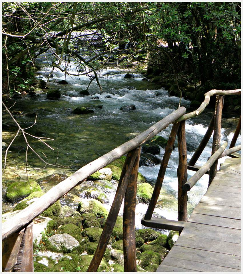 River Ljuta walking path