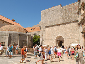 Dubrovnik und der Onofrio- Brunnen