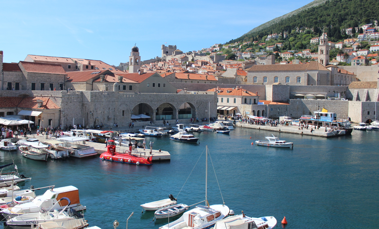 Old town port Dubrovnik
