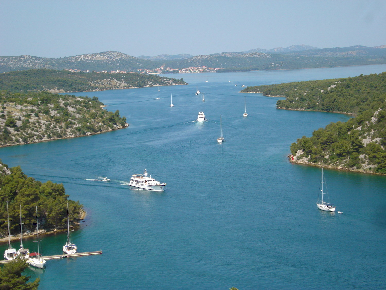 View from the Skradin bridge