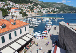 Dubrovnik port from the walls