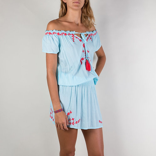 Isa Embroidered Dress