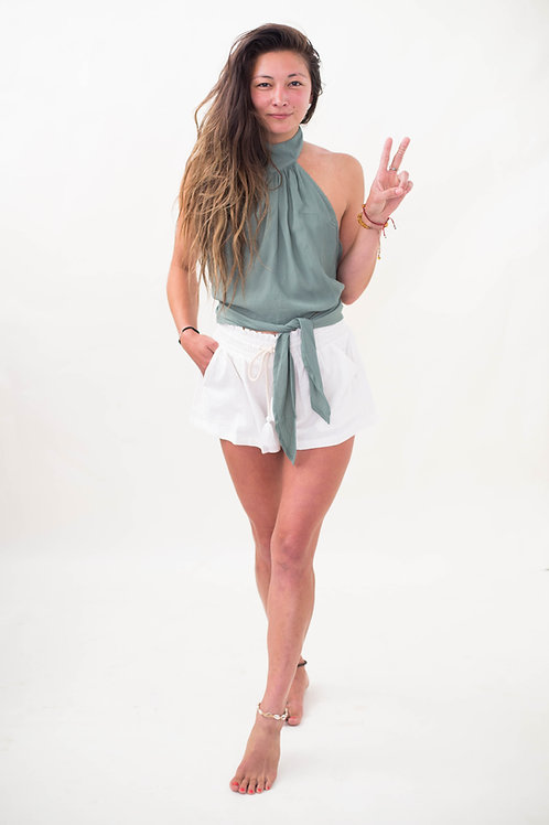 Over the Moon linen shorts