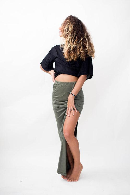 L'amour side slit skirt