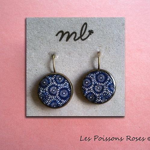 Mosaïques fleur bleue