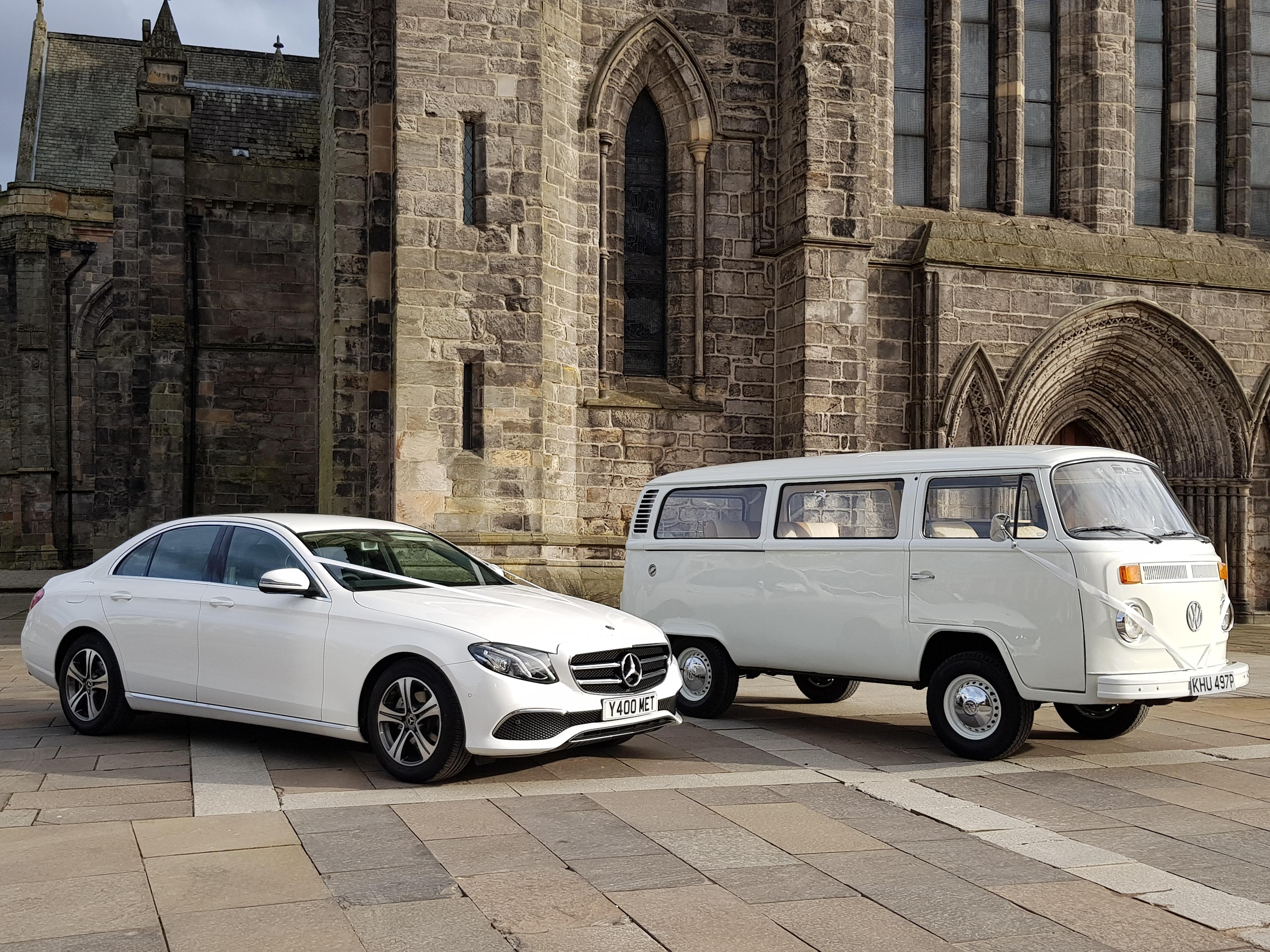 Whit E Class & VW Camper