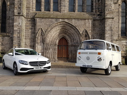 White E Class & VW Camper