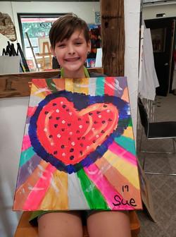 Sues big Heart