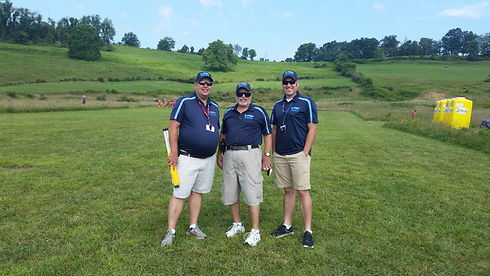 Image of 3 K&J Timing officials at the Bridgeport Invitational.
