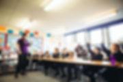 Teaching Talons at a school workshop