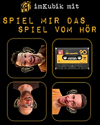 """imKubik mit """"Spiel mir das Spiel vom Hör"""", am 24. November 2017 im Theater Stadelhofen https://www.imkubik.ch/spiel-mir-das-spiel-vom-hoer"""