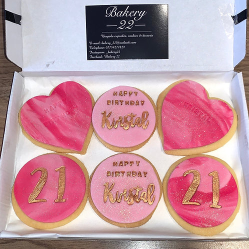 6 Personalised Shortbread Biscuits