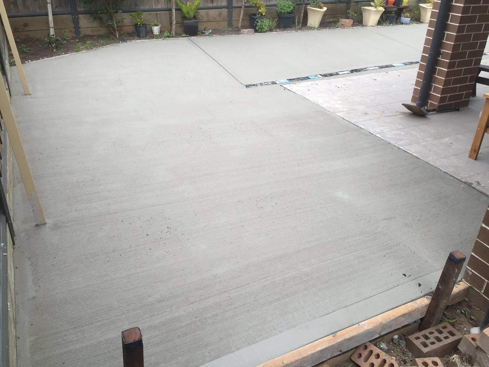 Backyard Concrete Work