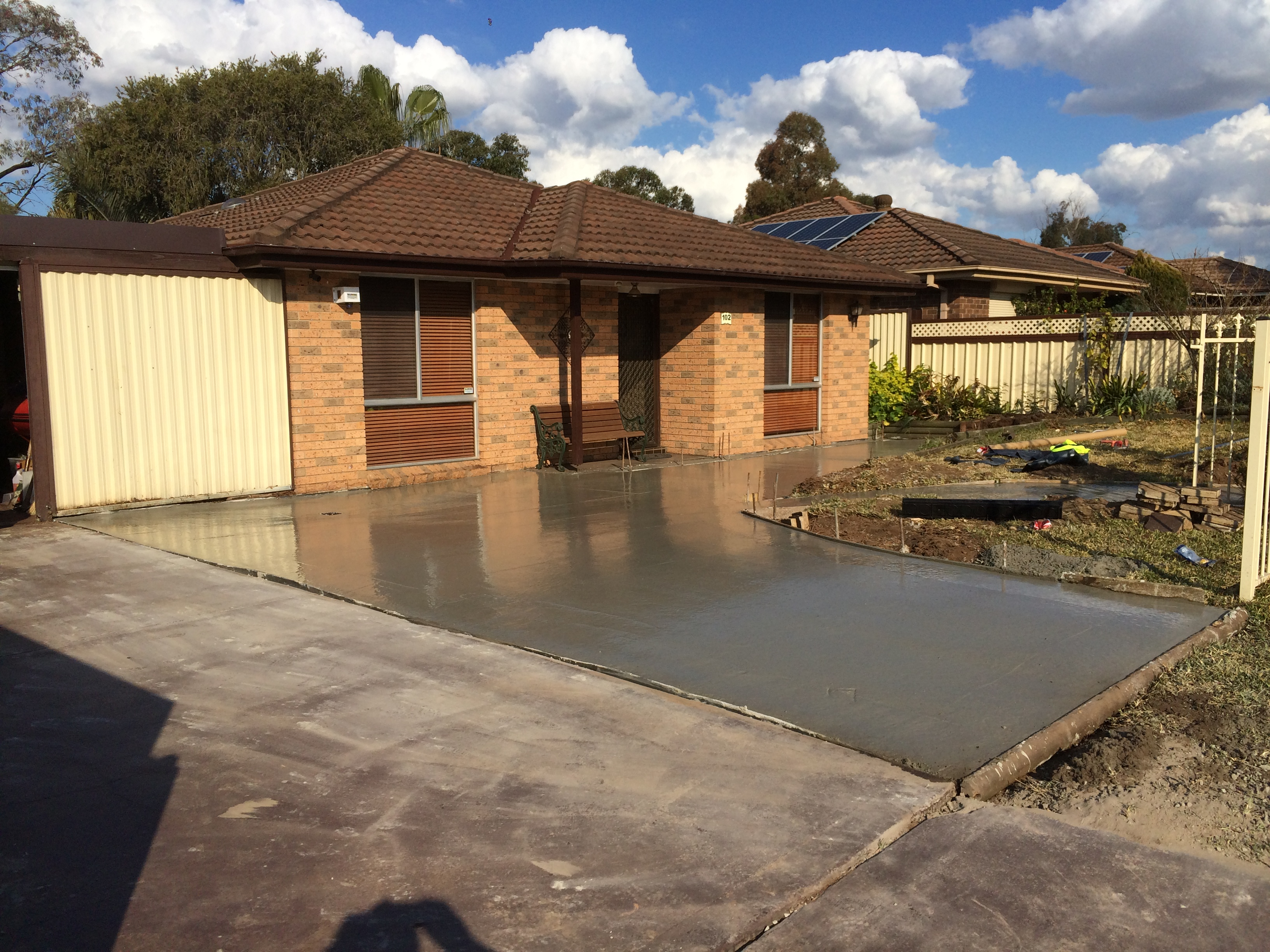 Extension to driveway - Shalvey