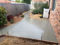 Concrete Shed Slab and path