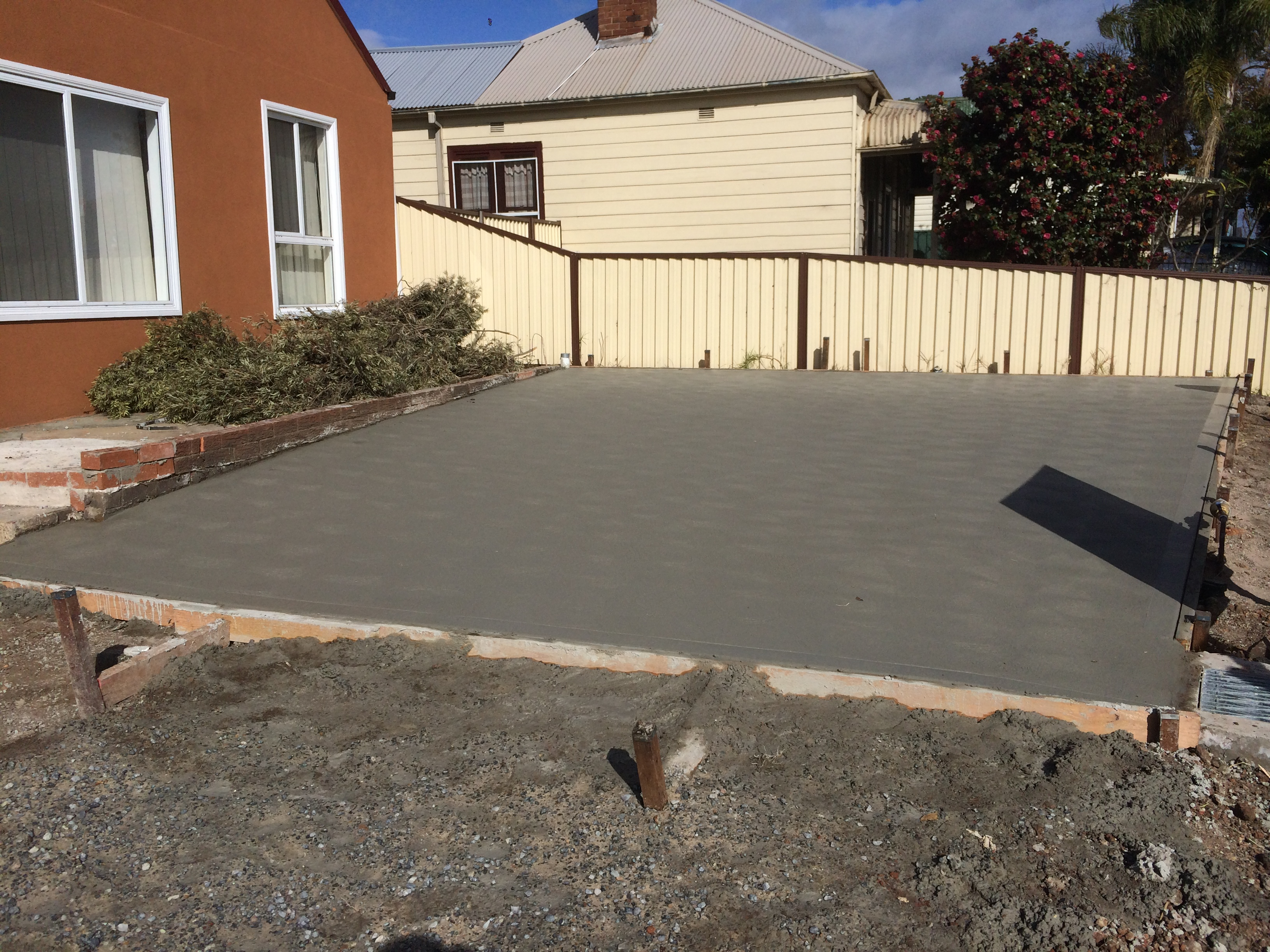 Carport concrete slab