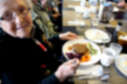 Our oldest resident is happy with her plate