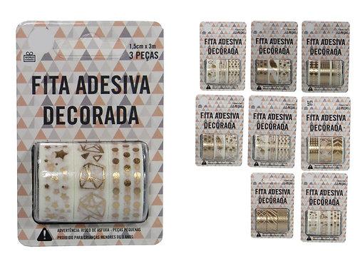 Fita Adesiva Decorativa c/3 rolos