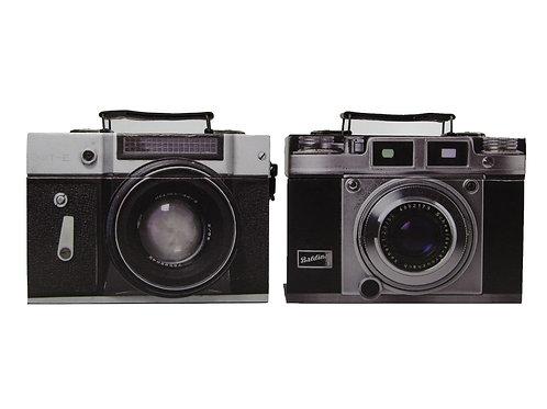 Caixa decorativa de máquina fotográfica
