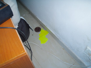 Shower leak
