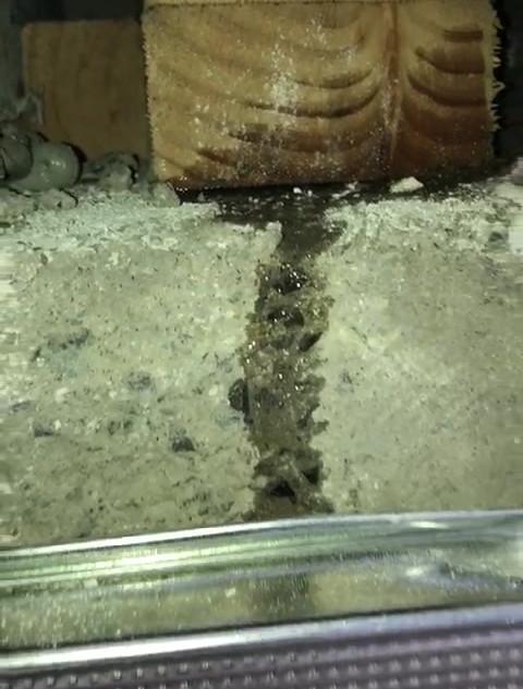 Floor leak via facade