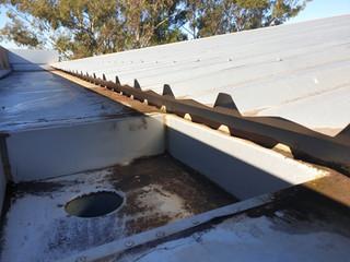 boxed gutter leak