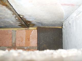 Control joint facade leak