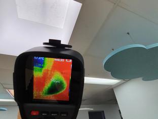 Thermal imaging leak