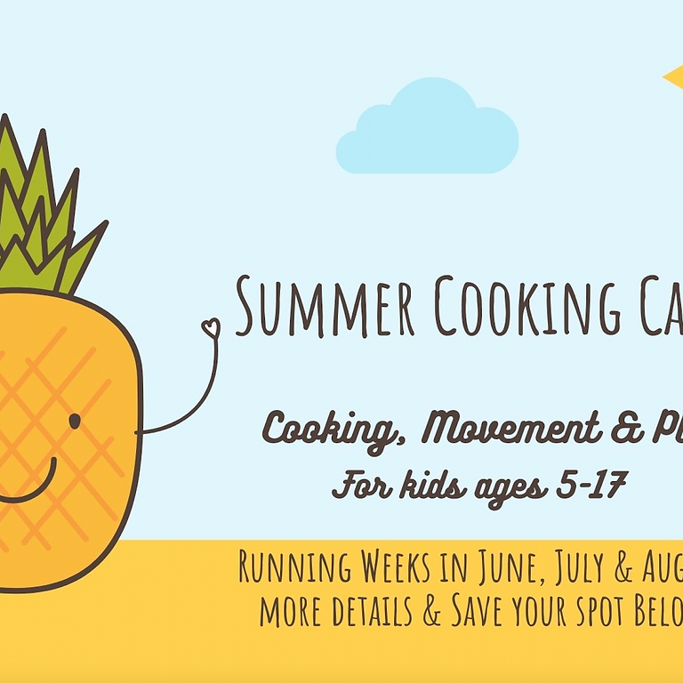 WEEK #1 FOOD, FITNESS & FUN CAMP (5-11 YEAR OLDS) JUNE 21-25  | 9 AM -4 PM  $299