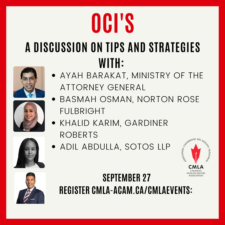 OCI's - Tips and Strategies