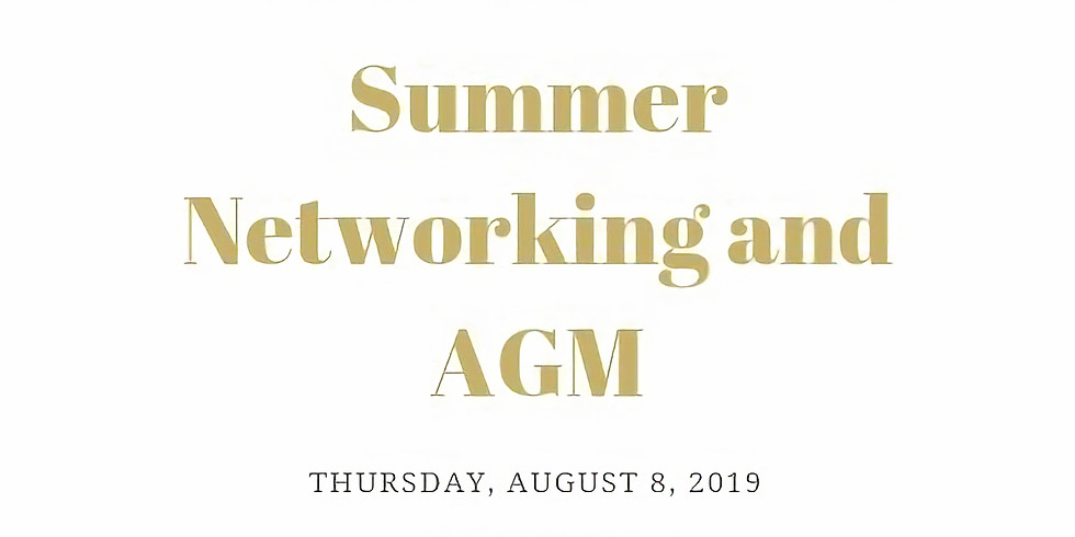 Summer Networking and AGM