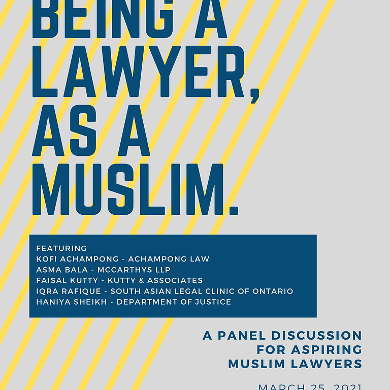 Muslim Lawyers - A Panel Discussion for Aspiring Lawyers