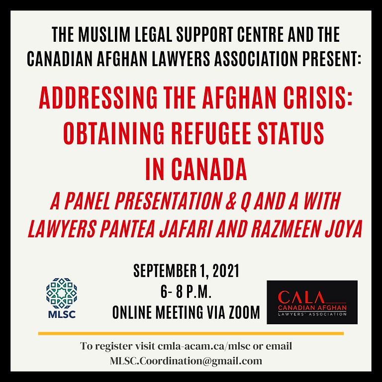 The Afghan Crisis: Obtaining Refugee Status in Canada