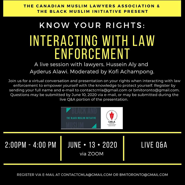 Know Your Rights: Interacting with Law Enforcement