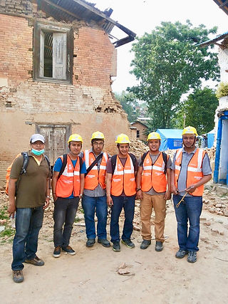 EAI team members in Nepal ready for the inspection.